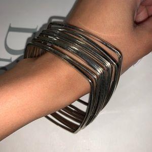 Silver square bracelets